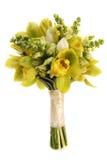 绿色兰花婚礼花束 免版税图库摄影