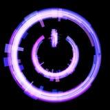 紫色关闭按钮,打开 光栅 免版税库存照片