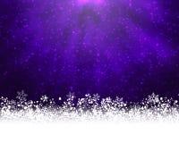 紫色冬天backround 库存图片