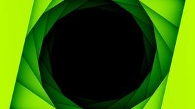 绿色几何圈子孔背景 库存照片