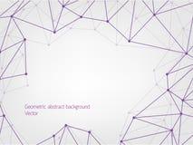 紫色几何多角形摘要背景 免版税库存照片