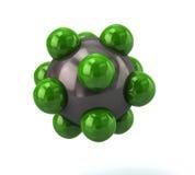 绿色分子象 免版税库存照片