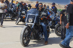 以色列人哈利戴维森骑自行车的人俱乐部的骑自行车的人 免版税库存照片