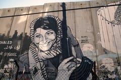 以色列人约旦河西岸障碍  免版税库存照片