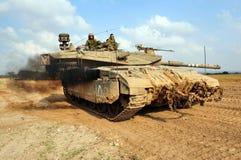 以色列军队-梅卡瓦坦克 免版税库存照片