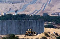 以色列加沙小条障碍 库存照片