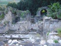 以色列古老废墟 图库摄影