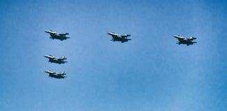 以色列喷气式歼击机 免版税图库摄影