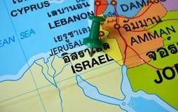 以色列地图 免版税图库摄影