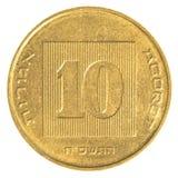 10以色列新的集市硬币 免版税库存照片