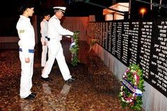以色列海军下落的战士仪式 免版税库存图片