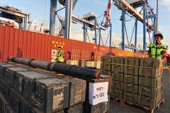 以色列海军拦截伊朗武器船 免版税库存照片