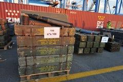 以色列海军拦截伊朗武器船 库存图片