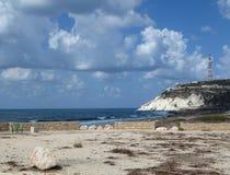 以色列海滩 免版税库存照片