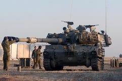 以色列火炮M109短程高射炮单位 库存照片