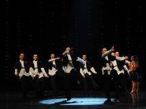 以色列男孩以色列民间舞蹈这奥地利的世界舞蹈 库存图片