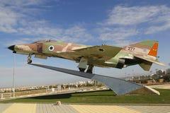 以色列空军队麦克当诺道格拉斯公司F-4E幽灵II喷气式歼击机 免版税库存照片