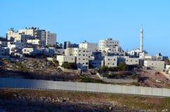 以色列约旦河西岸障碍 库存图片