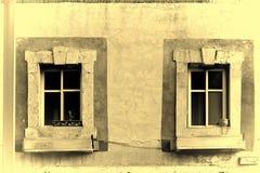 以色列老Windows 免版税库存照片