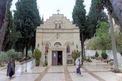以色列耶路撒冷 - 2月14日 2017年 妇女的Gorna修道院 免版税库存照片