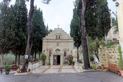 以色列耶路撒冷 - 2月14日 2017年 妇女的Gorna修道院 库存照片