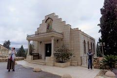 以色列耶路撒冷 - 2月14日 2017年 教会商店在妇女的Gorna修道院里 图库摄影