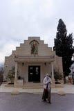 以色列耶路撒冷 - 2月14日 2017年 教会商店在妇女的Gorna修道院里 免版税库存照片