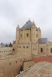 以色列耶路撒冷 - 2月14日 2017年 Dormition的大教堂教会在锡安山的 库存图片