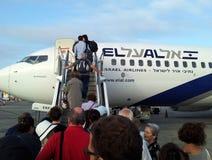 以色列航空公司飞机 库存照片