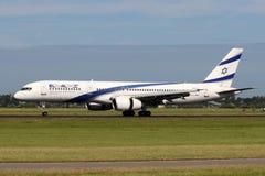 以色列航空公司以色列航空公司波音757-258 免版税图库摄影