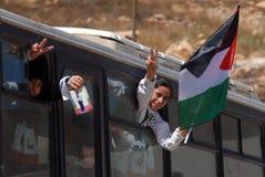 以色列释放255个巴勒斯坦囚犯 免版税图库摄影