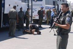以色列释放255个巴勒斯坦囚犯 免版税库存照片