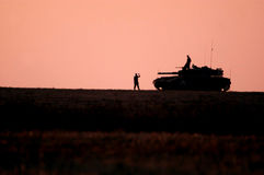 以色列陆军坦克 免版税库存图片
