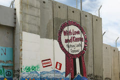 以色列隔离墙,伯利恒 免版税库存照片