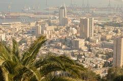 以色列 俯视市海法 图库摄影