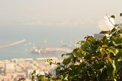 以色列 俯视市海法 库存照片