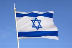以色列-大卫王之星的旗子 库存图片