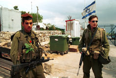 以色列黎巴嫩边界 库存照片