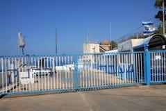 以色列-黎巴嫩边界- Rosh HaNikra横穿 库存图片