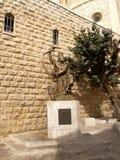 以色列 对沙皇大卫的一座纪念碑在登上的Z耶路撒冷 免版税图库摄影
