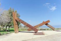 以色列 - 2月17日 2017年 内盖夫加利利博物馆 免版税库存图片