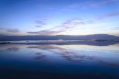 以色列 死海 黎明 库存照片