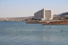 以色列- Ein的Bokek死海 免版税图库摄影