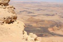 以色列- Makhtesh拉蒙 库存照片