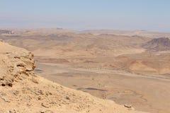 以色列- Makhtesh拉蒙 库存图片