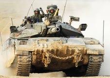 以色列IDF坦克-梅卡瓦 库存图片