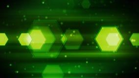 绿色动态六角形 库存照片