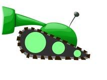 绿色动画片坦克的例证 免版税库存照片
