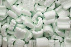 绿色包装泡沫 免版税库存图片
