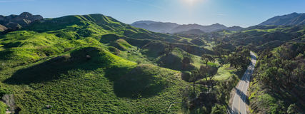 绿色南加州小山 库存照片